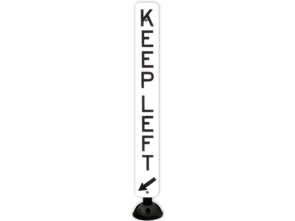 Retro-Post® with vertical keep left sign blade