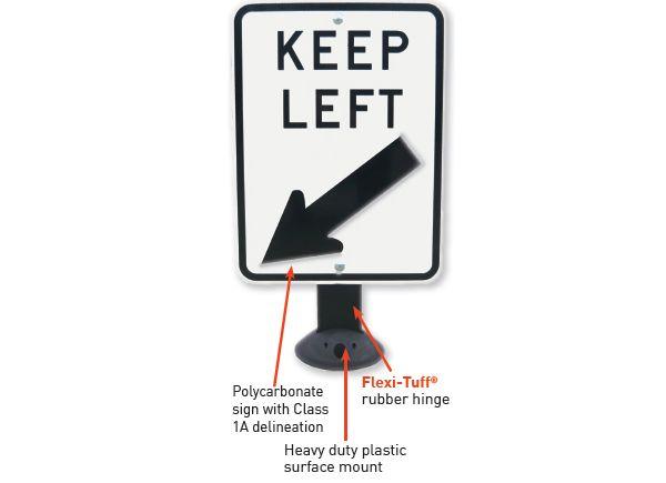 Flexi-Tuff® Keep Left sign
