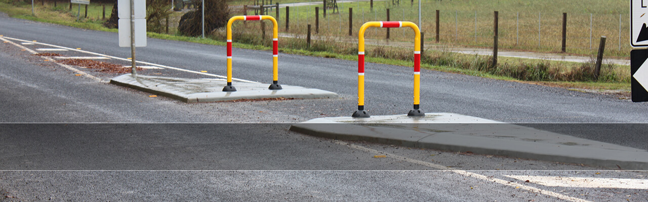 Retro-Post® Pedestrian Refuge Barriers
